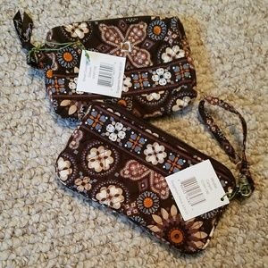 Wristlet & Small Cosmetic in Canyon